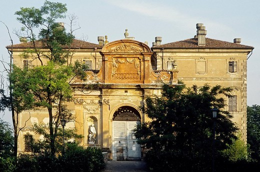 Villa Pallavicino, prior to renovations, Busseto, province of Parma, Emilia_Romagna, Italy, Europe : Stock Photo
