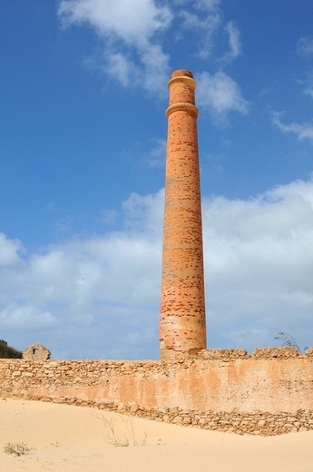 Fabrica da Chave, brickyard ruins, Boa Vista Island, Republic of Cape Verde, Africa : Stock Photo