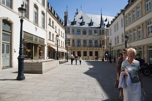 Stock Photo: 1848-148463 Rue du Marche aux Herbes, Luxembourg