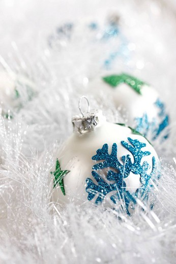 Christmas balls, pearl, decoration : Stock Photo