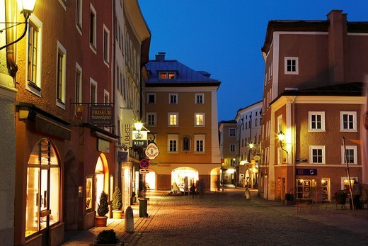 City centre of Hallein, Tennengau, Salzburger Land, federal state of Salzburg, Austria, Europe : Stock Photo