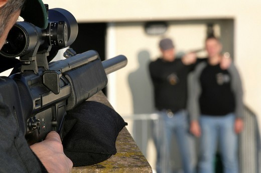 DEU, Germany: Police, special squad, SWAT Teams, exercise. , : Stock Photo
