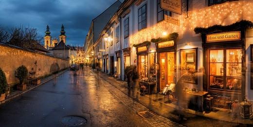 Stock Photo: 1848-149552 Shopping street in Linz, Upper Austria, Austria