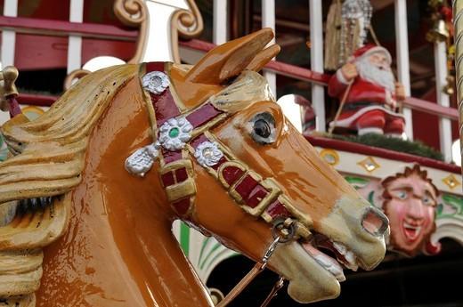 Stock Photo: 1848-149564 Carousel horse, Erfurt, Thuringia, Germany, Europe