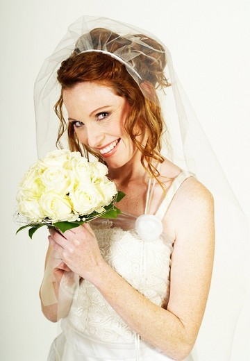 Stock Photo: 1848-149930 Bride holding the bridal bouquet