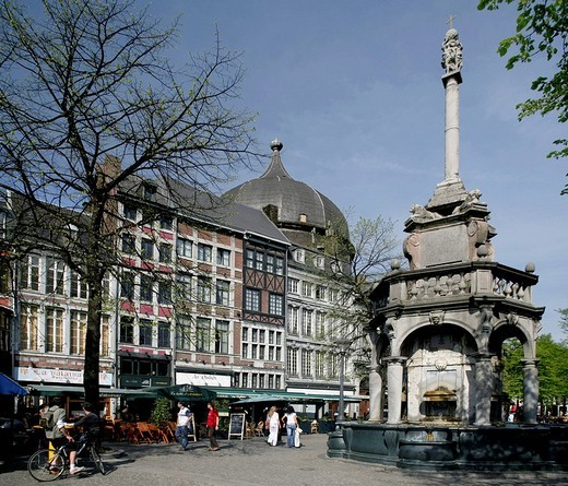 Place de Marché, market square, Liège, Wallonia, Belgium, Europe : Stock Photo