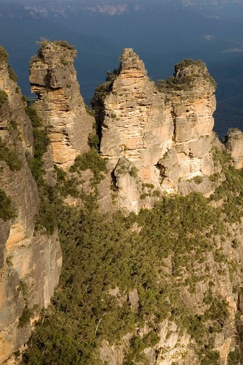 The Three Sisters as seen from Echo Point, Katoomba, NSW, Australia : Stock Photo