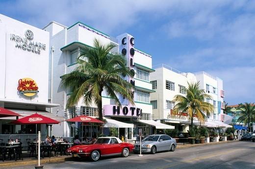 Stock Photo: 1848-151789 Colony Hotel, Ocean Drive, Miami, Florida, USA