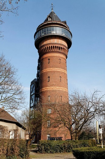 Historic water tower, Aquarius Water Museum, Styrum, Muehlheim an der Ruhr, North Rhine_Westphalia, Germany, Europe : Stock Photo