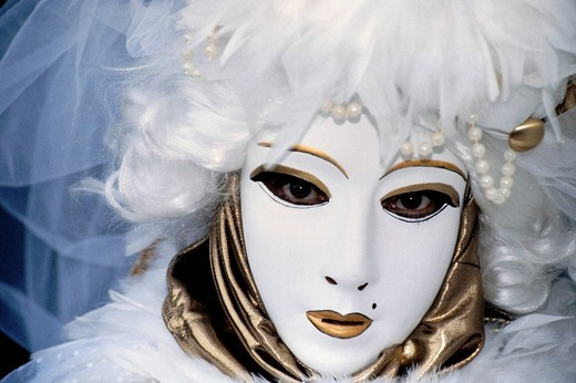 Mask, Carnival of Venice, Veneto, Italy, Europe : Stock Photo