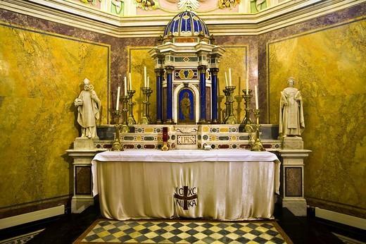 Side altar in the Collegiate Church in Klosterneuburg, Lower Austria, Austria, Europe : Stock Photo
