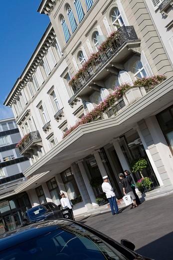 Hotel Baur au Lac, luxury hotel, Zurich, Switzerland : Stock Photo