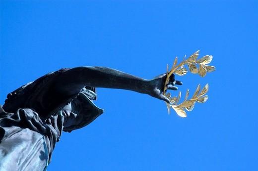 Statue with laurel, Schlossbruecke, Berlin, Germany : Stock Photo