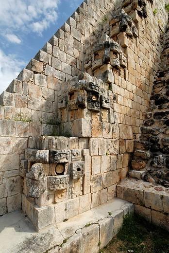 Stock Photo: 1848-155039 Piramide del Adivino, pyramid of the magician, Maya archeological site Uxmal, Yucatan, Mexico