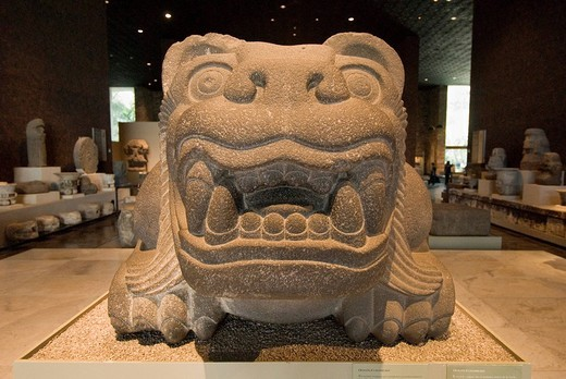 Stock Photo: 1848-155047 Prehispanic sculpture, Museum of Anthropology, Mexico City, Mexico
