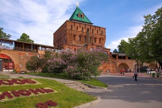 Stock Photo: 1848-155102 Dmitry Tower of the Kremlin, Nizhny Novgorod Gorky, Russia