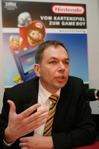 Dr. Bernd Fakesch, General Manager of Nintendo Deutschland : Stock Photo