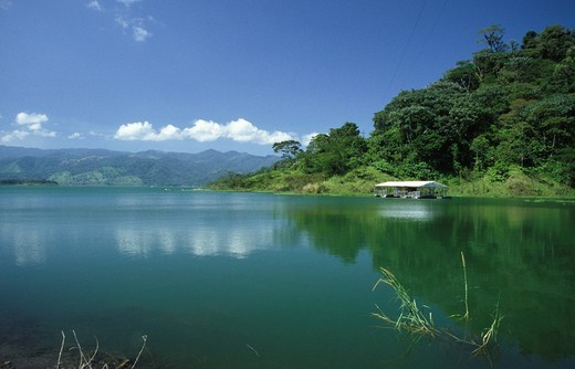Stock Photo: 1848-155486 View of the lake Arenal, Lago de Arenal, Costa Rica, Central America