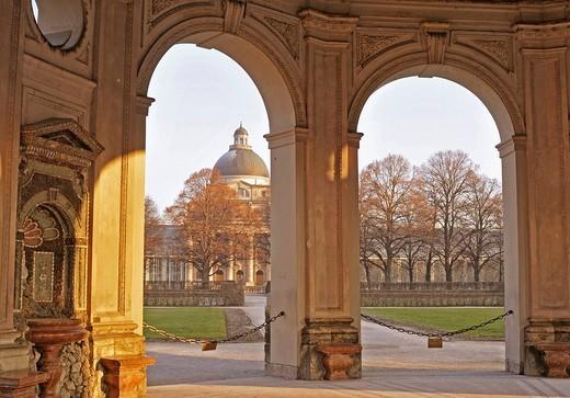 Bayerische Staatskanzlei Bavarian State Chancellery, Munich, Bavaria, Germany, Europe : Stock Photo