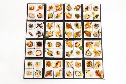 Stock Photo: 1848-155770 Delicous appetizers starters starter appetizer