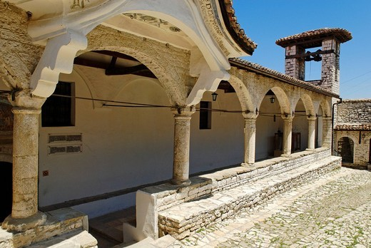 Old orthodox church in Berat Fortress, UNESCO World Heritage Site, Albania, Europe : Stock Photo