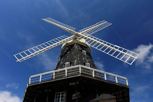 Eight_storey windmill, one of the largest windmills in the world, Oeland, Kalmar County, Sweden, Scandinavia, Europe : Stock Photo