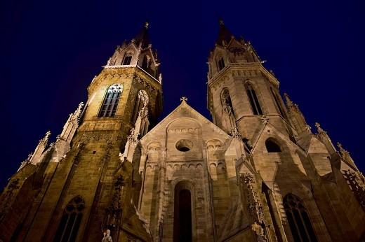 Romanesque Collegiate Church in Klosterneuburg, Lower Austria, Austria, Europe : Stock Photo
