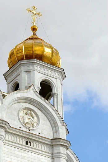 Stock Photo: 1848-156429 Belltower of the Cathedral of Christ the Saviour, Moscow, Russia