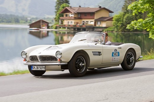 Stock Photo: 1848-158126 BMW 507 constructed in 1955, Kitzbuehel Alps Ralley 2008, Austria, Europe