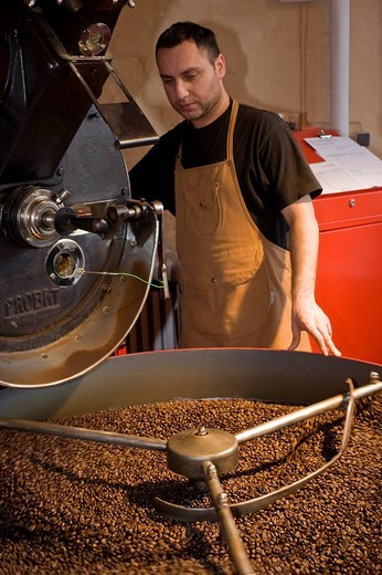 Andraschko Coffee Manufacturers, coffee roasters, Berlin, Germany : Stock Photo