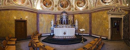 Baroque collegiate church Klosterneuburg, Lower Austria, Austria, Europe : Stock Photo