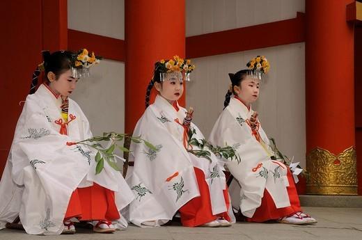 Stock Photo: 1848-158698 Celebrations at the Imamiya Shrine, Matsuri, Shinto shrine festival on April 5th, Kyoto, Japan, Asia