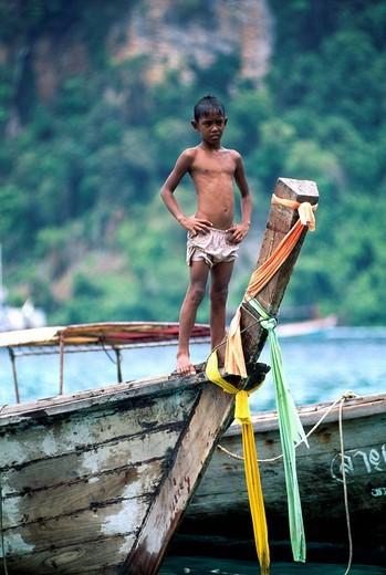 Long_tail boat, Kho Phi Phi, Thailand, Asia : Stock Photo