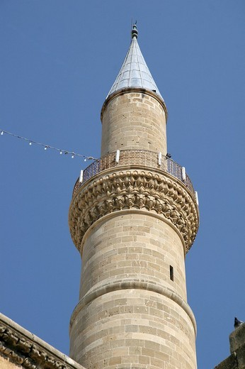 Stock Photo: 1848-15934 Minaret, Selimiye Mosque, St. Sophia Cathedral, Nicosia, Cyprus