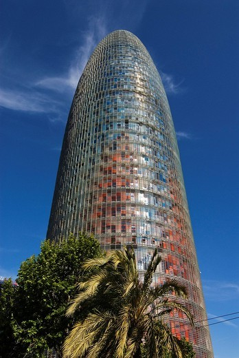 Stock Photo: 1848-159818 Torre Agbar, the new landmark of Barcelona, Spain, Europe