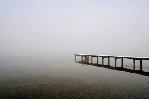 Stock Photo: 1848-160371 Jetty at Buchscharner Seewirt Inn at Lake Starnberg near Muensing, Upper Bavaria, Bavaria, Germany