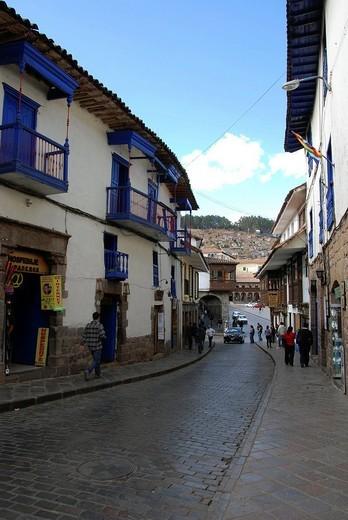 Stock Photo: 1848-160861 Cusco, Inca settlement, Quechua settlement, Peru, South America, Latin America