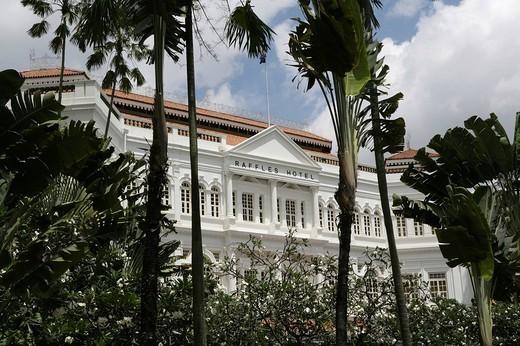 Stock Photo: 1848-161241 SGP Singapore: Raffles Hotel. ,