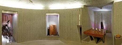 Modern crypt, Mariazell Cloister, Klein_Mariazell, Triestingtal Triesting Valley, Lower Austria, Austria, Europe : Stock Photo