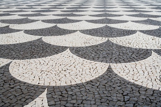 Pavement in Funchal, Madeira, Portugal : Stock Photo