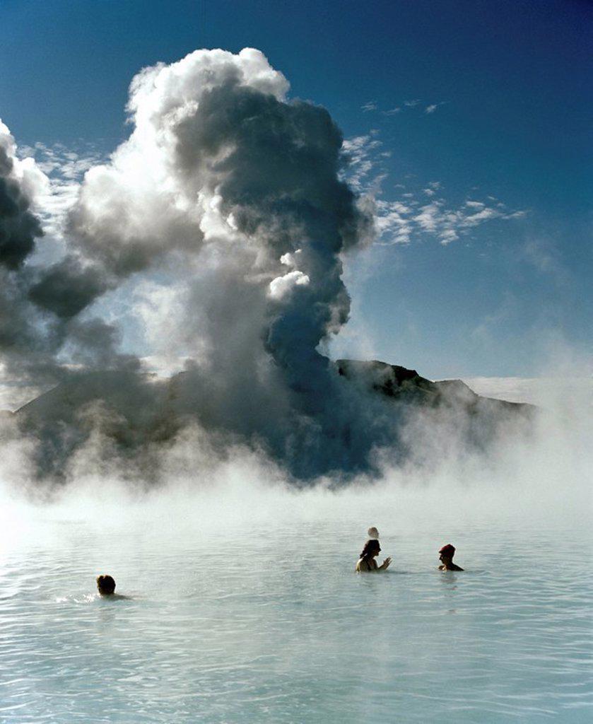 Stock Photo: 1848-163693 Blue lagoon, hot springs near Grindavik, Reykjavik, Iceland