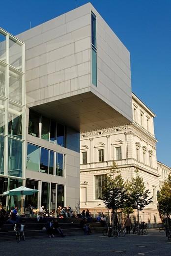 New building of the Akademie der Schoenen Kuenste, art college, Munich, Bavaria, Germany, Europe : Stock Photo