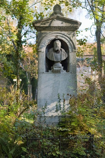 Grave of Dr. med. Karl August von Solbrig, 1809_1872, psychiatrist, Alter Suedfriedhof Cemetery, Munich, Bavaria, Germany : Stock Photo