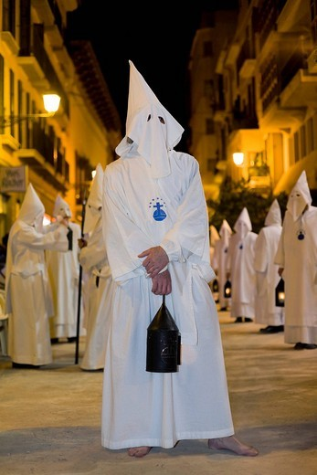 Stock Photo: 1848-165816 Large procession on Maundy Thursday, Palma de Majorca, Balearic Islands, Spain, Europe