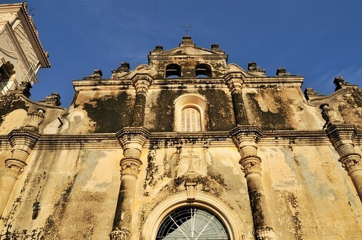 Facade of La Merced Church, Granada, Nicaragua, Central America : Stock Photo