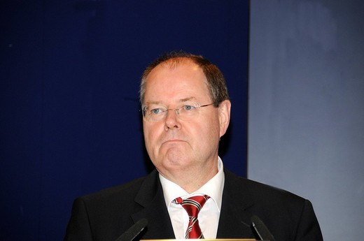 Stock Photo: 1848-165859 Peer Steinbrueck, Federal Finance Minister, SPD party, Germany, Europe