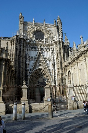 Catedral de Santa Maria de la Sede, cathedral, Sevilla, Andalusia, Spain, Europe : Stock Photo