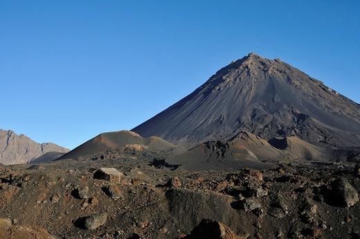 Pico de Fogo Volcano, Fogo Island, Cape Verde Islands, Africa : Stock Photo