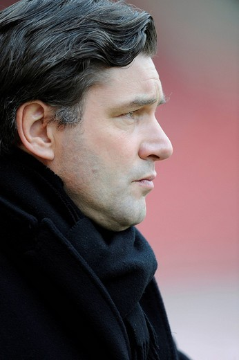 General manager Michael Zorc, BVB Borussia Dortmund : Stock Photo