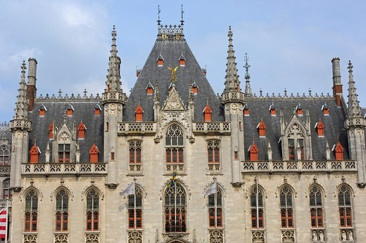 Stock Photo: 1848-166848 Provincial Government palace in the Markt, market square, Brugge, West Flanders, Belgium, Europe